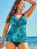 Plus Size Ravine Bra Sized Crochet Underwire Tankini Set