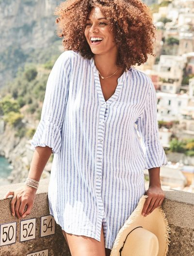 Plus Size Sandra Elba Button Up Shirt