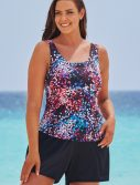 Plus Size Santorini Classic Tankini with Loose Short