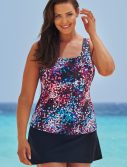 Plus Size Santorini Classic Tankini with Skirt
