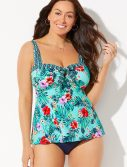 Plus Size Seaglass Sweetheart Tankini Set