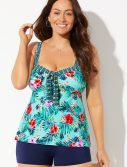 Plus Size Seaglass Sweetheart Tankini with Boy Short