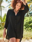 Plus Size Shea High-Low Button Front Shirt