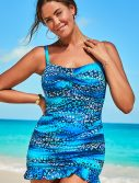 Plus Size Starlight Ruffle Swimdress
