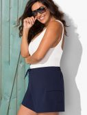 Plus Size Stretch Navy Board Short