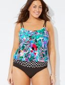 Plus Size Verona Loop Blouson One Piece Swimsuit